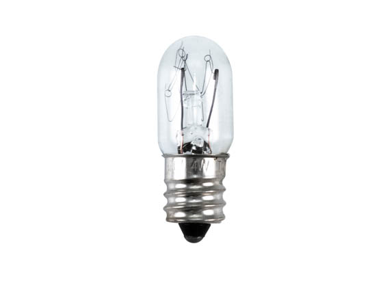 CEC Industries C4T4 1/2-120V-1 9/16 4T4 1/2-120V-1 9/16 CEC 4 Watt, 120 Volt T4.5 Clear Miniature Tube Bulb