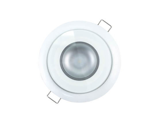 Lumitec Lighting 113123 Mirage FMDL White Only Mirage Marine Non-dimmable White Finish LED Downlight