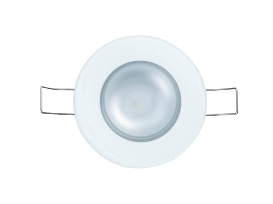 Lumitec Lighting 113197 Mirage SPectrum FMDL RGBW Mirage Marine Dimmable Glass Finish with RGBW LED Downlight