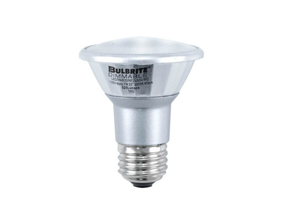 Bulbrite 772715 LED7PAR20/FL40/830/WD Dimmable 7W 3000K 40° PAR20 LED Bulb, Wet Rated
