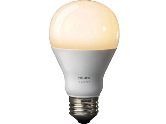 Philips Lighting 455295 Philips Hue White 9.5 A19 E26 US Philips Hue Dimmable White 9.5W A19 Single LED Bulb ENERGY STAR