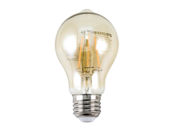 Philips Lighting 461665 4.5A19/LED/820/FCL/DIM 120V Philips Dimmable 4.5W 2000K Vintage A19 Filament LED Bulb