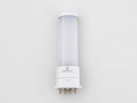 Green Creative 57818 3.5PLS/835/BYP/2G7 3.5W 4 Pin 3500K 2G7 Base LED Bulb, Ballast Bypass, Rated for Enclosed Fixtures