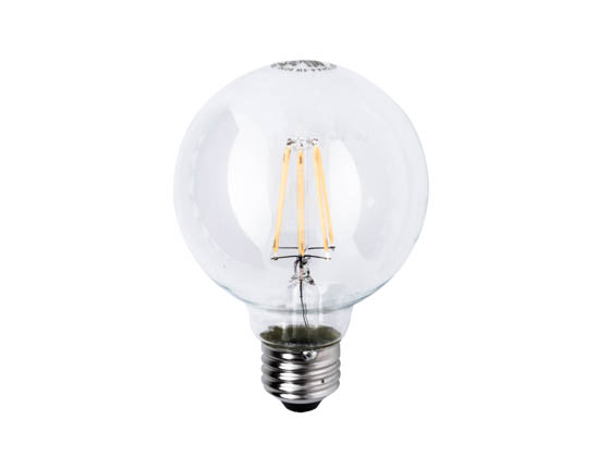Satco Products, Inc. S9564 6.5G25/CL/LED/E26/27K/120V Satco Dimmable 6.5W 2700K G25 Filament LED Bulb, Rated For Enclosed Fixtures