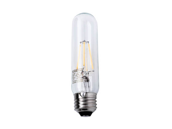 Satco Products, Inc. S9580 4.5T10/LED/E26/27K/120V Satco Dimmable 4.5W 2700K T10 LED Filament Bulb, Enclosed Fixture Rated
