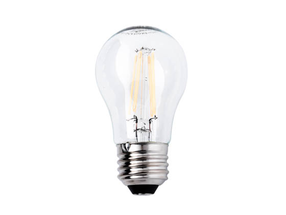 Satco Products, Inc. S9560 4.5A15/CL/LED/E26/27K/120V Satco Dimmable 4.5W 2700K A15 Filament LED Bulb, Enclosed Rated