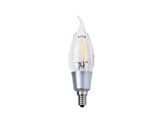 Satco Products, Inc. S9574 4.5W CFC/LED/27K/120V Satco Dimmable 4.5W 2700K CA11 Decorative Filament LED Bulb, Rated For Enclosed Fixtures