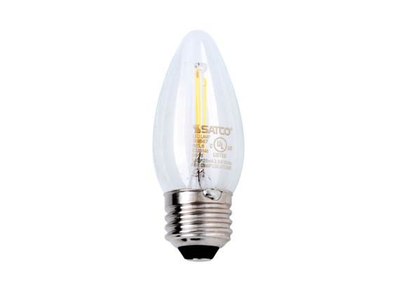 Satco Products, Inc. S9567 2.5W ETC/LED/27K/120V Satco Dimmable 2.5W 2700K C11 Decorative Filament LED Bulb, Enclosed Fixture Rated