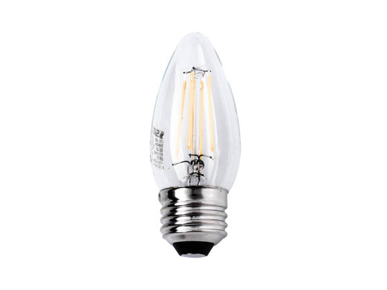 Satco Products, Inc. S9569 4.5W ETC/LED/27K/120V Satco Dimmable 4.5W 2700K C11 Decorative Filament LED Bulb, Enclosed Fixture Rated