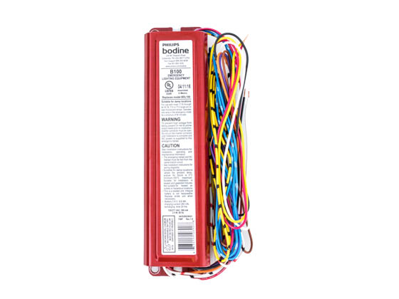 Bodine B100 Philips B100 Linear Fluorescent Emergency Ballast For 1 Lamp 17-40 Watts, 350-450 Lumens