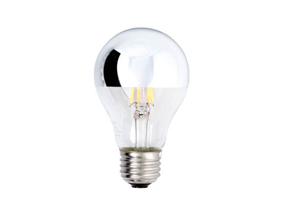 Bulbrite 776571 LED4A19/27K/FIL/HM Dimmable 4W 2700K Half Mirror A19 Filament LED Bulb