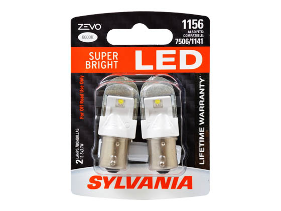 Sylvania 32854 ZEVO2 G2 1156LED.BP2 EN-SP UPP 2SKU 72CS 1156 ZEVO LED Mini Auto Stop, Tail Light