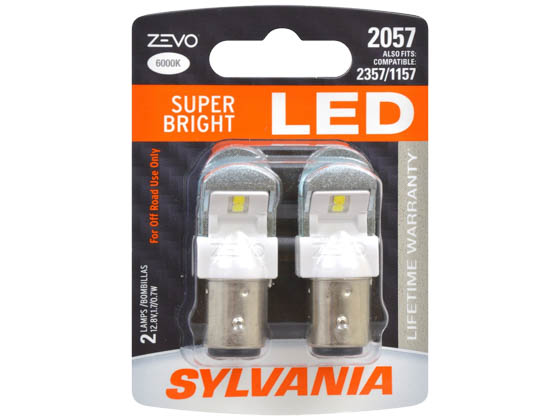 Sylvania 31982 ZEVO2 G2 2057LED.BP2 EN-SP 2/SKU 72/CS 2057 ZEVO LED Automotive Bulb