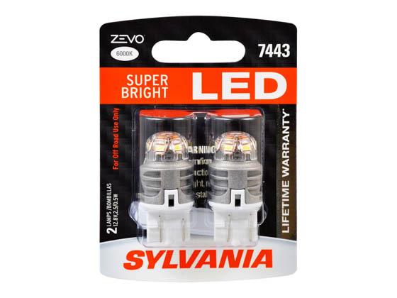 Sylvania 32766 ZEVO2 7443LED.BP2 EN-SP 2/SKU 72/CS 7443 ZEVO LED Automotive Bulb