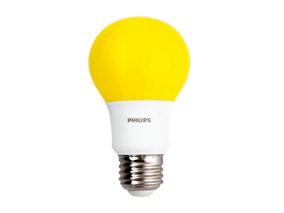 Philips Lighting 463190 BC8A19/LED/YELLOW/ND 120V Philips Non-Dimmable 8W Yellow A19 Bug Light LED Bulb