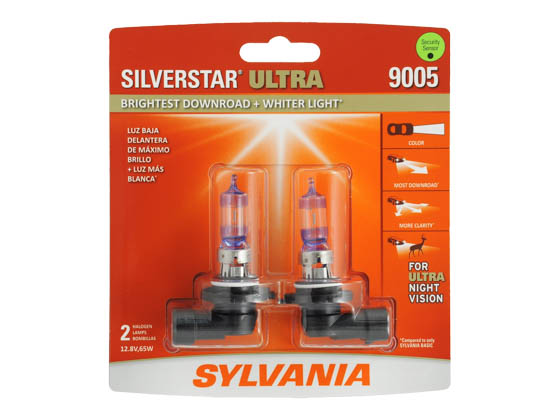 Sylvania 31363 9005SU.BP2 EN-SP 2/SKU 8/BX 80/CS 9005 SilverStar Ultra High and Low Beam Headlight