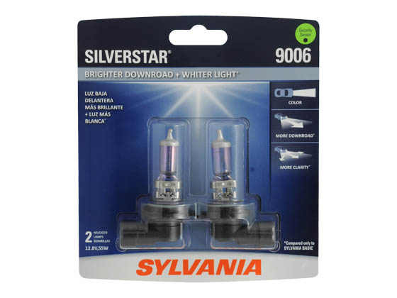 Sylvania 36190 9006ST.BP2 EN-SP 2/SKU 8/BX 80/CS 9006 SilverStar Halogen Headlight
