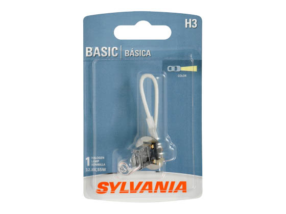 Sylvania 35466 H3.BP EN-SP 1/SKU 10/BX 100/CS H3 Basic Halogen Headlight