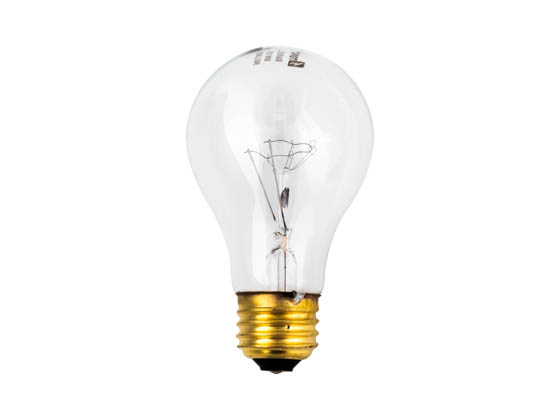 Topaz Lighting 79302 60A/RS/CL 60W 120V Soft White Clear Rough Service Incandescent Bulb