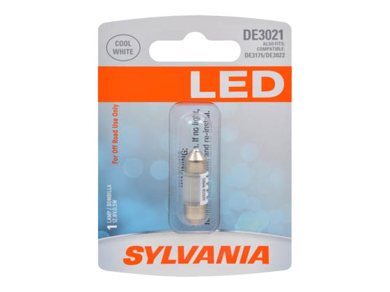 Sylvania 33015 SYLED DE3021SL.BP EN-SP 1/SKU 36/CS DE3021 LED 31mm Festoon Interior Auto Bulb
