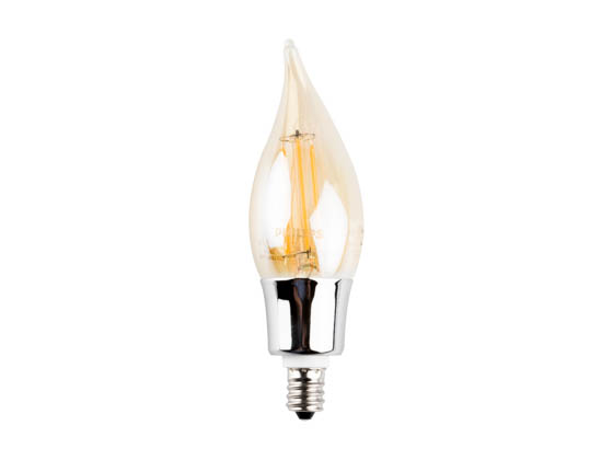Philips Lighting 466524 4.5BA11/LEDFilament/820/CL-A/DIM 120V Philips Dimmable 4.5 Watt 2000K Decorative Filament LED Bulb