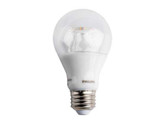 Philips Lighting 462515 6A19/LED/827-22/CL/DIM 120V Philips Dimmable 6 Watt 2700K to 2200K A19 LED Bulb