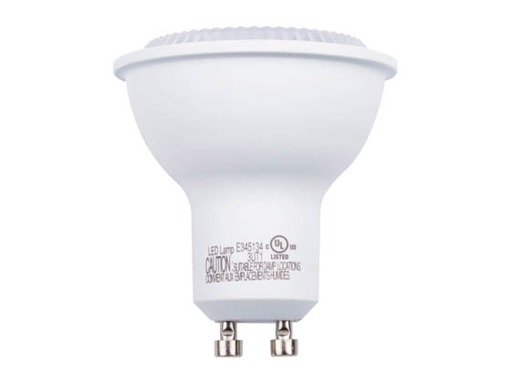 Green Creative 57987 6GU10DIM/827FL35 Dimmable 6 Watt 2700K 35° MR16 LED Bulb, GU10 Base, Enclosed Rated