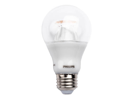 Philips Lighting 462531 10A19/LED/827-22/CL/DIM 120V Philips Dimmable 10W Warm Glow 2700K-2200K A19 LED Bulb