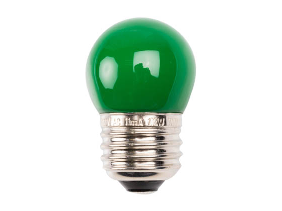 Satco Products, Inc. S9163 1.2W S11/GR/LED/120V/CD Satco 1.2 Watt Green S11 LED Bulb