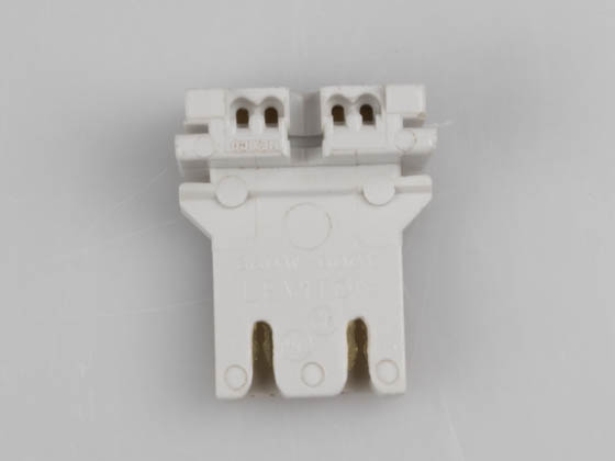Satco Products, Inc. 80-1257 Medium Bi-Pin Socket (Non Shunted-Rapid Start) Satco Non Shunted Medium Bi-pin Socket for Rapid Start Applications