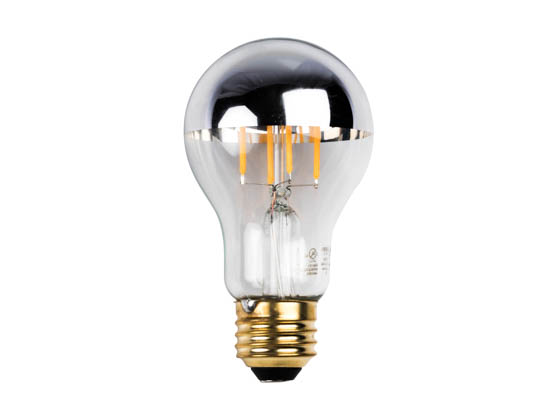 Bulbrite 776671 LED5A19/27K/FIL/HM/2 Dimmable 5W 2700K Half Mirror A19 Filament LED Bulb