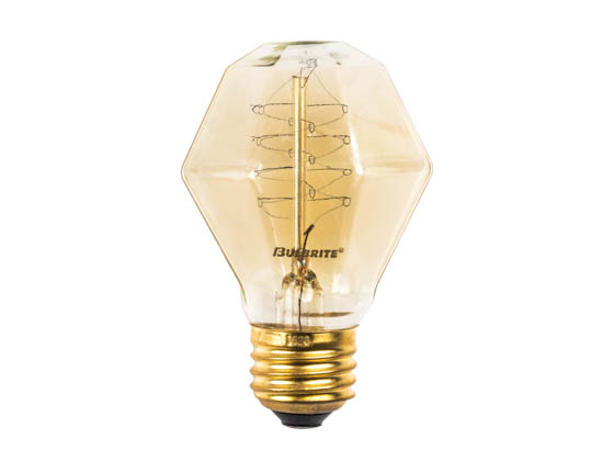 Bulbrite 132518 NOS40-GEM 40W 120V GEM Nostalgic Decorative Bulb, E26 Base