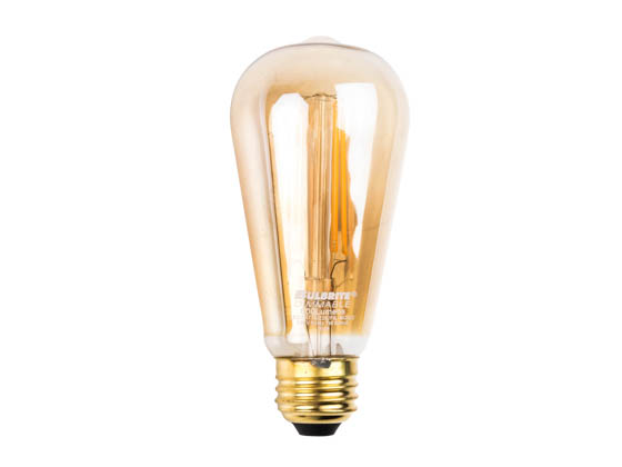 Bulbrite 776609 LED7ST18/22K/FIL-NOS/2 Dimmable 7W 2200K Vintage ST18 Filament LED Bulb
