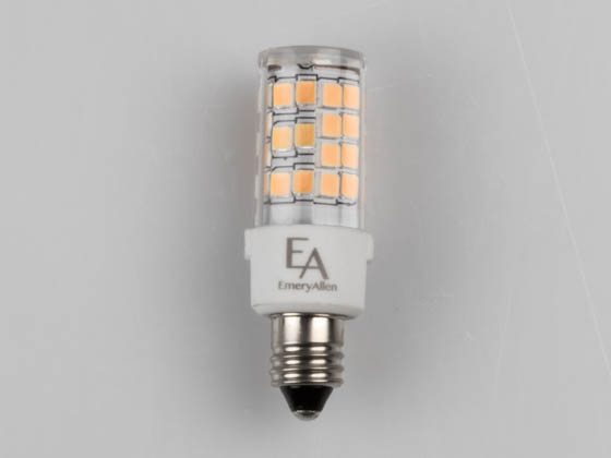 EmeryAllen EA-E11-4.5W-001-3090-D Dimmable 4W 120V 3000K T3 LED Bulb, E11 Base, Rated For Enclosed Fixtures