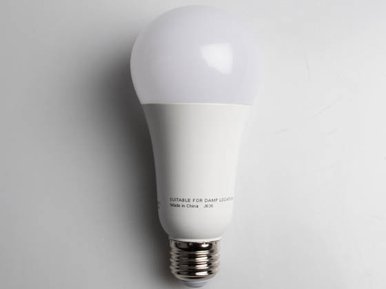 Satco Products, Inc. S9815 15.5A21/LED/2700K/1600L/120V/D Satco Dimmable 15.5W 2700K A21 LED Bulb, Enclosed Rated