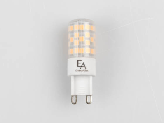EmeryAllen EA-G9-4.5W-001-309F-D Dimmable 4.5W 120V 3000K T3 LED Bulb, G9 Base, Enclosed Rated