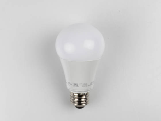 TCP L15A19D2541K Dimmable 15 Watt 4100K A-19 LED Bulb, Enclosed Rated