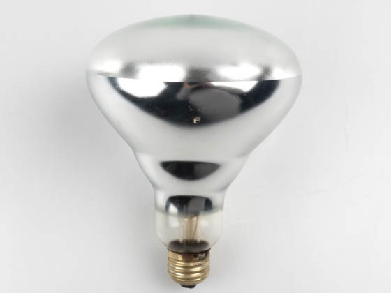 Satco Products, Inc. S4999 (Safety) 250BR40-CL-SA-TFC (Safety) 250 Watt, 120 Volt BR40 Clear Safety Coated Reflector Bulb. WARNING:  THIS BULB IS NOT TO BE USED NEAR LIVE BIRDS.