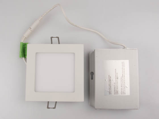 "Lightolier FD4S07930TE1W Dimmable 11.6 Watt 4"" Square 3000K Flat LED Downlight"