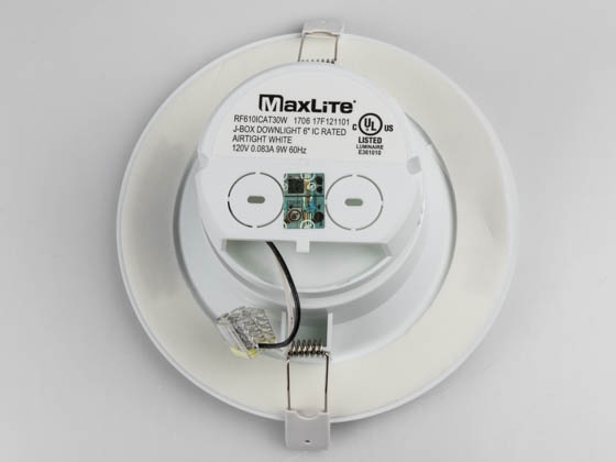 "MaxLite 1408894 RF610ICAT30W Maxlite Dimmable 6"" 9W 3000K LED Downlight, No Recessed Can or J-Box Needed"