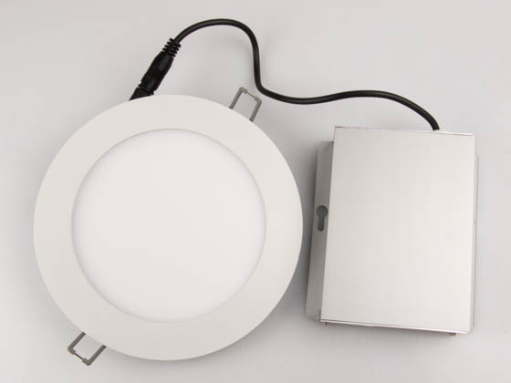 "Lightolier FD6R09930TE1W Dimmable 13.7 Watt 6"" Round 3000K Flat LED Downlight"