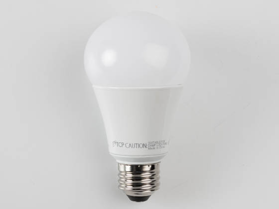 TCP L15A19D2530K Dimmable 15 Watt 3000K A-19 LED Bulb, Enclosed Rated