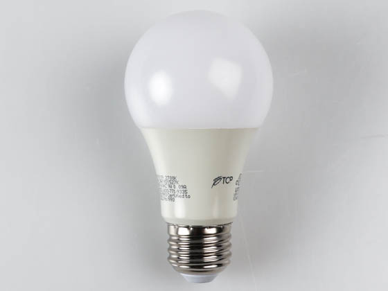 TCP L9A19D1527K Dimmable 9 Watt 2700K A-19 LED Bulb, Enclosed Rated