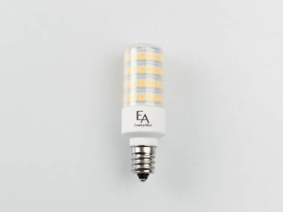 EmeryAllen EA-E12-5.0W-001-309F-D Dimmable 5W 120V 3000K T3 LED Bulb, E12 Base, Enclosed Fixture Rated, JA8 Compliant