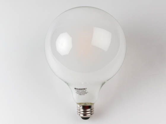 Bulbrite 776683 LED7G40/27K/FIL/E26/F/2 Dimmable 7W 2700K Filament G40 LED Bulb, Enclosed Fixture Rated