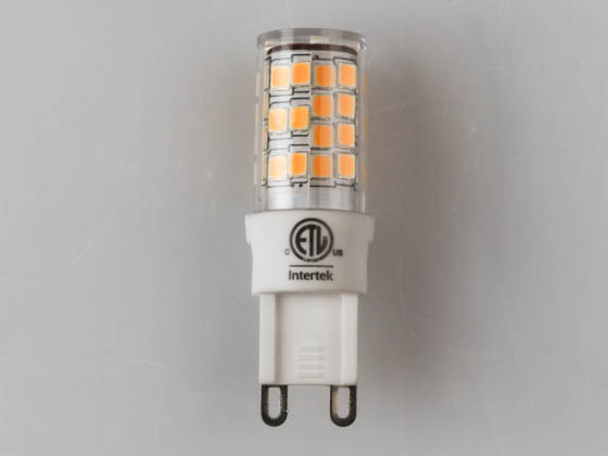 Bulbrite 770579 LED4G9/30K/120/D Dimmable 4.5W 3000K Clear T4 LED Bulb with G9 Base