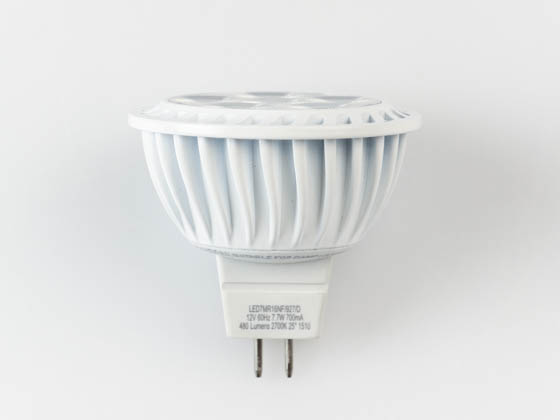 Bulbrite 771090 LED7MR16NF/927/D Dimmable 7.7W 90 CRI 2700K 25° MR16 LED Bulb, GU5.3 Base