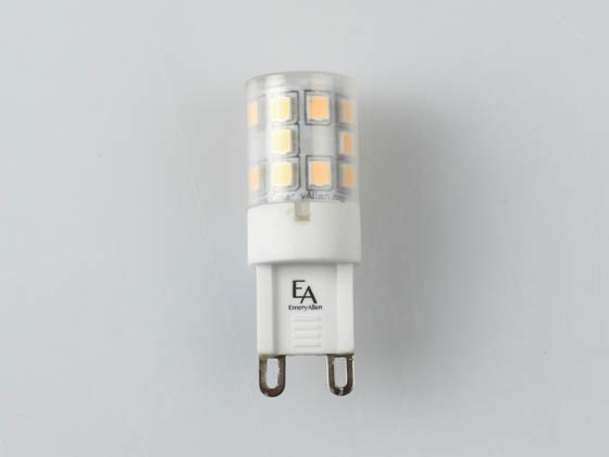 EmeryAllen EA-G9-3.0W-001-309F-D Dimmable 3W 120V 3000K 90 CRI T3 LED Bulb, G9 Base, Enclosed Fixture Rated