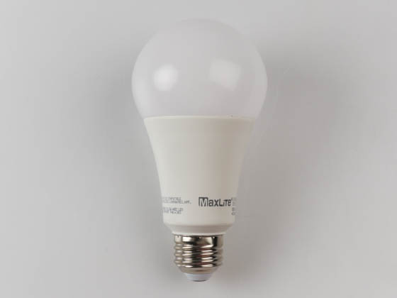 MaxLite 1409886 E17A21DLED930/JA8 Maxlite Dimmable 17 Watt 3000K A21 LED Bulb, 91 CRI, JA8 Compliant, Enclosed Rated