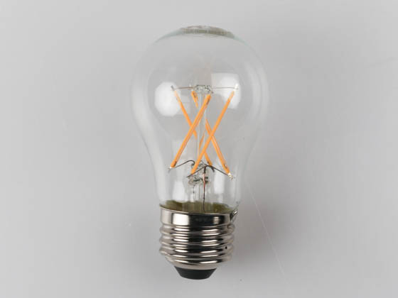 Satco Products, Inc. S9874 4.5A15/CL/LED/E26/27K/ES/120V Satco Dimmable 4.5W 2700K A15 Filament LED Bulb, Enclosed Rated